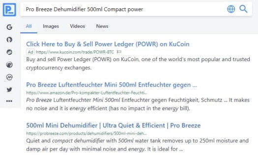 Electric dehumidifier search results