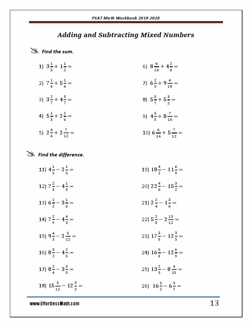 PSAT Math Workbook 2019 & 2020: Extra Practice for an