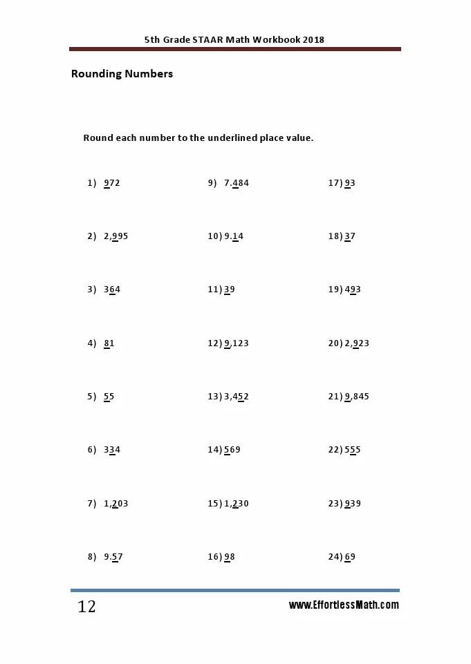 5th Grade STAAR Math Workbook 2018: The Most Comprehensive