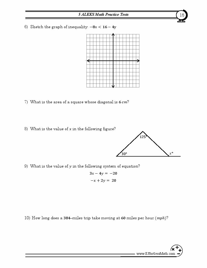 5 ALEKS Math Practice Tests: Extra Practice to Help