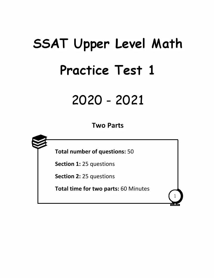 5 SSAT Upper Level Math Practice Tests: Extra Practice to
