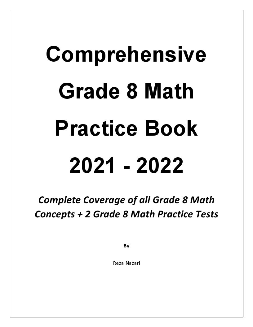 Comprehensive Grade 8 Math Practice Book: Complete