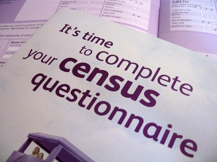 front of UK census form