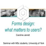 Forms design: what matters to users?