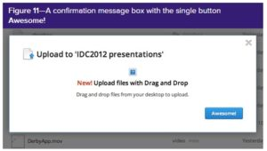the upload presentation button is actually and unhelpfully labelled awesome