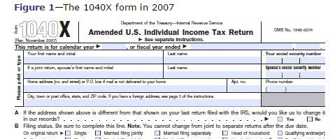 first page of the US tax form with a signature box appearing at the foot of the page, before the form is completed overleaf