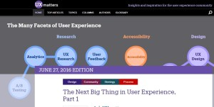 home page of UX Matters