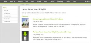 latest news section on Niftylift website