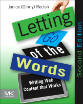 front cover of letting go of the words