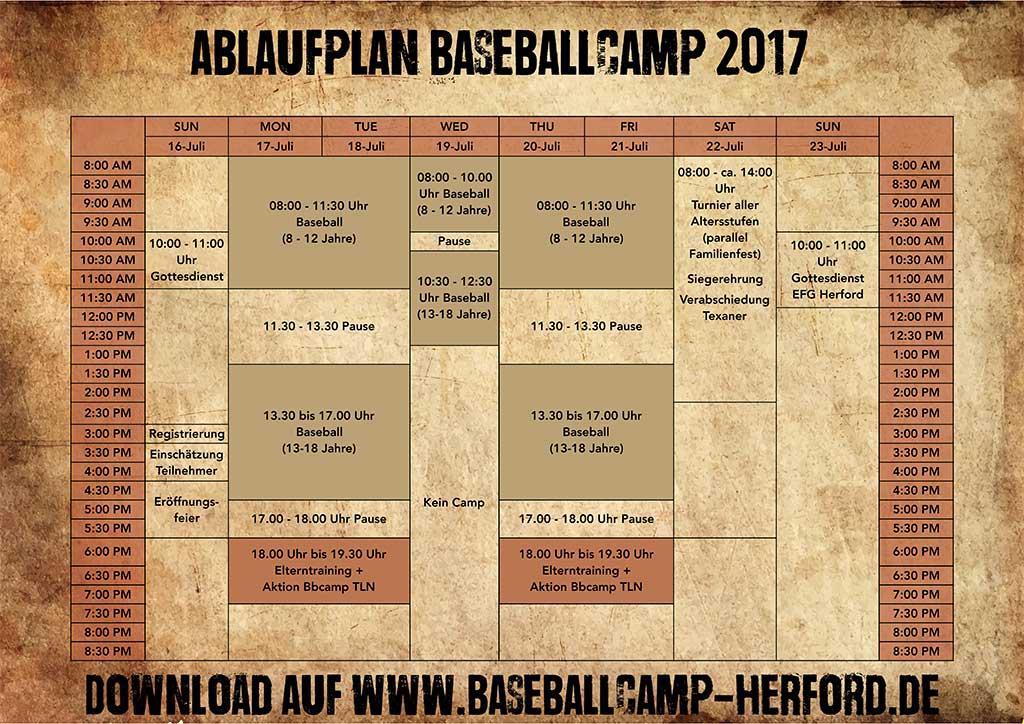 Gottesdienst zur Eröffnung des Baseball Camps 2017