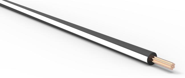 TXL Automotive Wire 20 AWG BLACK w/ WHITE Stripe Bulk 50