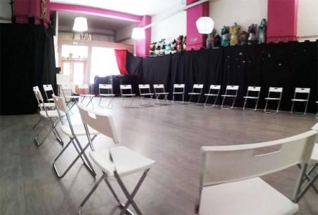 presentacion, distribucion sillas en circulo, charlas, conferencias, ponencia, presentacion libro, lanzamiento productos