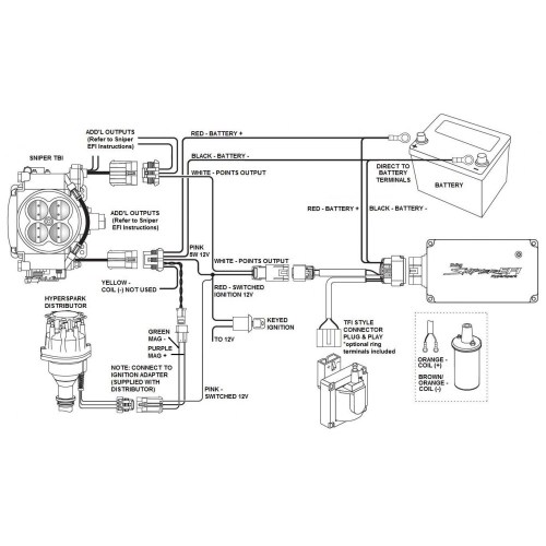small resolution of  hyperspark efi distributor ford 302