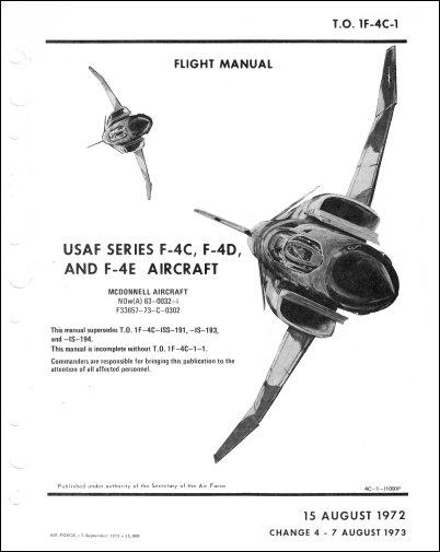 McDonnell Douglas F-4C, F-4D, F-4E Flight Manual (part# 1F
