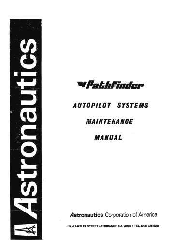 Astronautics Corp Of America P1, P2, P2A, P3, P3A, P3B