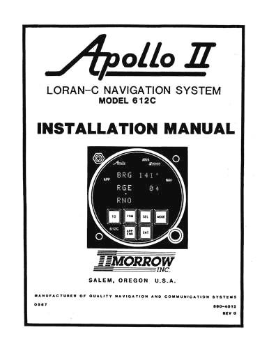 II Morrow Inc Apollo II Model 612C Installation Manual