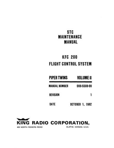 King KFC 200 Flight Control Vol II Maintenance (part# 006
