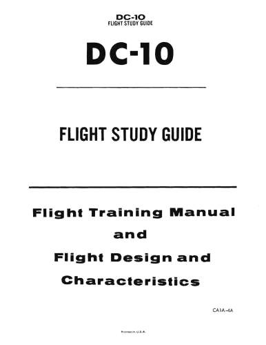 McDonnell Douglas Dc-10-30 Flight Crew Operating (part