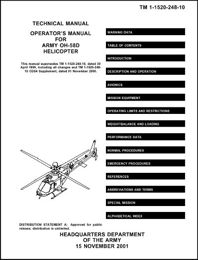 Bell OH-58D Operator's Manual (part# TM 1-1520-248-10)
