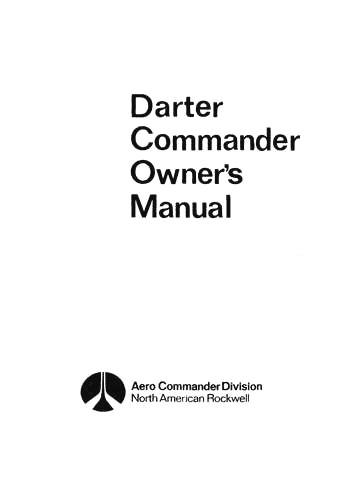 Aero Commander 100 Darter Commander Owner's, Flight Manual