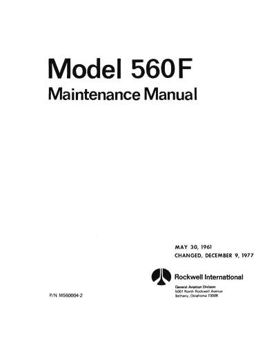 Aero Commander 560F Maintenance Manual (part# M560004-2)