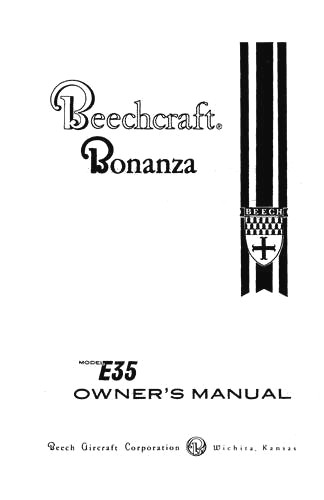 Beech E35 Bonanza Owner's Manual (part# 35-590001-5)