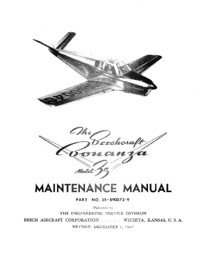 Beech Maintenance Parts Manuals