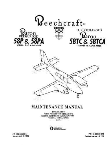 Beech 58P, PA & 58TC, TCA Baron Maintenance Manual (part