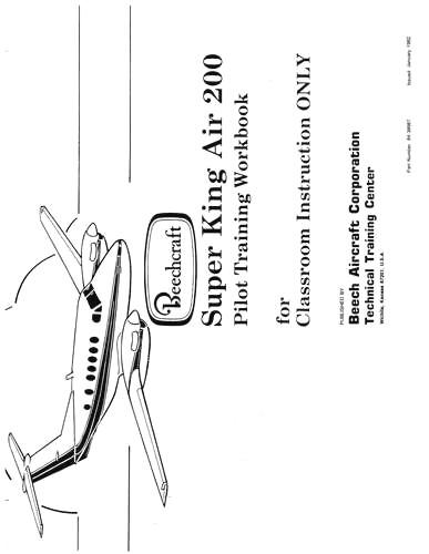 Beech 200 Super King Air Pilot Training Workbook (part# 84