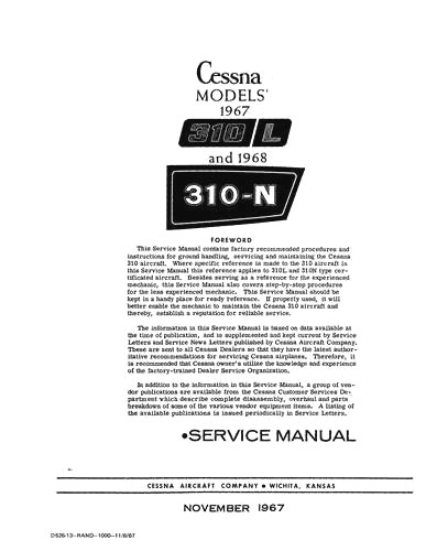 Cessna Maintenance & Parts Manuals