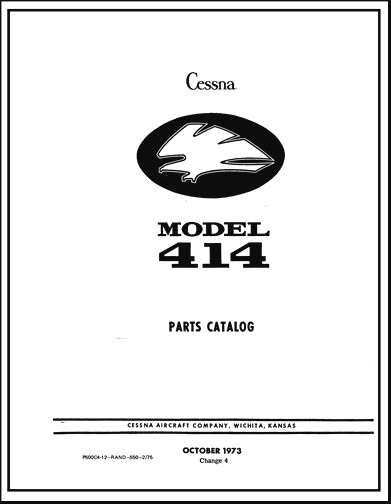 Cessna 414 Parts Catalog (part# P500C4-12)