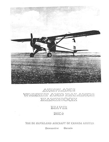 DeHavilland DHC-2 Beaver Weight & Balance Book (part