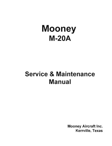 Mooney Maintenance & Parts Manuals