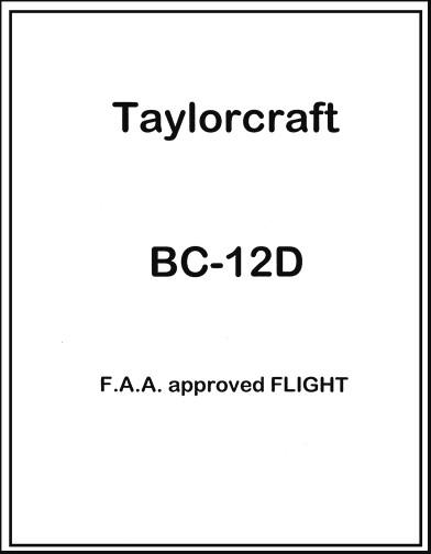 Taylorcraft BC-12D Flight Manual (part# TABC12DF)