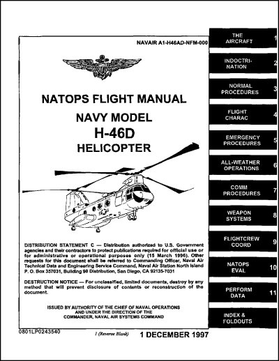 Boeing H-46D Flight Manual (part# NAVAIR A1-H46AD-NFM-000)