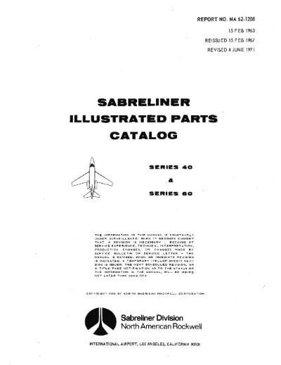 North American Sabreliner Series 40 & 60 1963 Illustrated