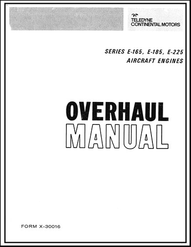 Continental E-165, E-185, E-225 Series Overhaul Manual