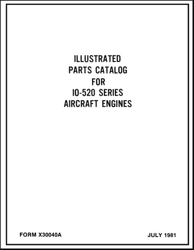 Continental IO-520 Series 1981 Parts Catalog (part# X30040A)