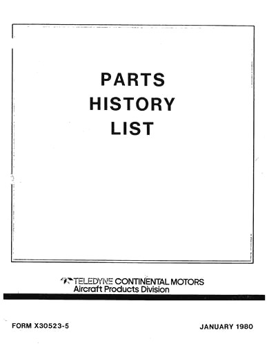Continental PE150-2, PE150-6 1975 Engine Illustrated Parts