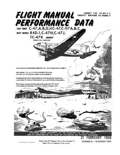 Douglas C-47 Pilot Training Manual, Flight Manual