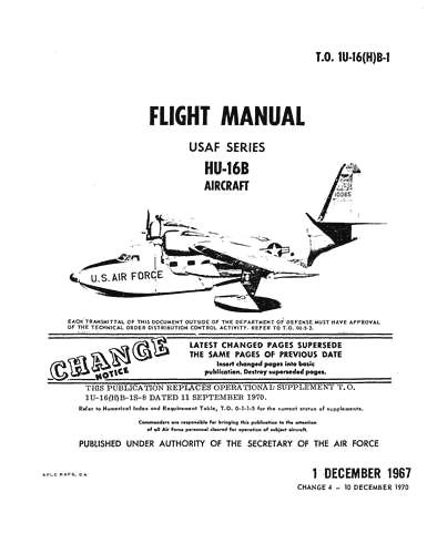 Grumman HU-16B Albatross 1967 Flight Manual (part# 1U-16(H