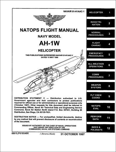 Bell Helicopter AH1W Flight Manual NAVAIR 01H1AAC1
