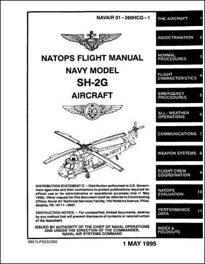 Kaman SH-2G Flight Manual (part# NAVAIR 01-260HCG-1)
