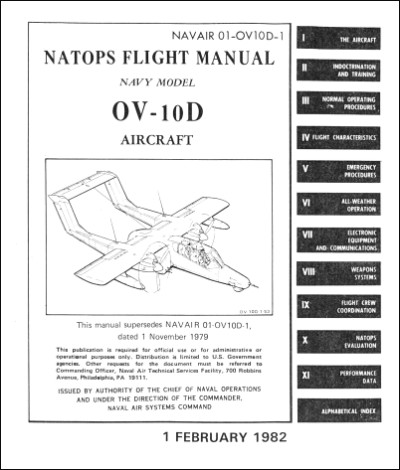 North American OV-10D Flight Manual (part# NAVAIR 01-OV10D-1)