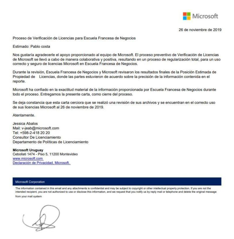 Validación de Licencias Microsoft