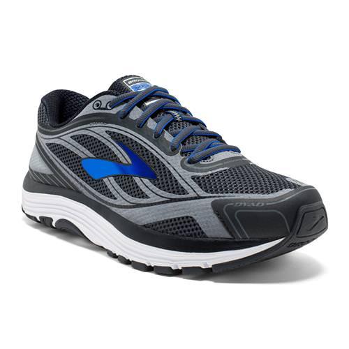 Brooks Dyad 9 Men's Wide 4E Running Asphalt Electric Brooks Black 1102314E038