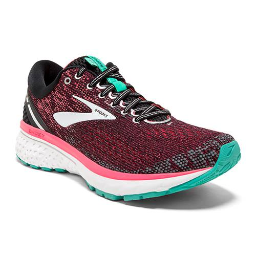 Brooks Ghost 11 Women's Running Black Pink Aqua 1202771B017