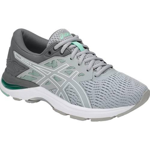Asics GEL Flux 5 Women's Running Shoe Mid Grey White Opal Green T861N 9601