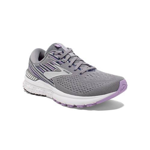 Brooks Adrenaline GTS 19 Women's Running Grey Lavender Navy 1202841B060