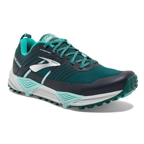 Brooks Cascadia 13 Women's Running Teal Aqua Grey 1202741B343